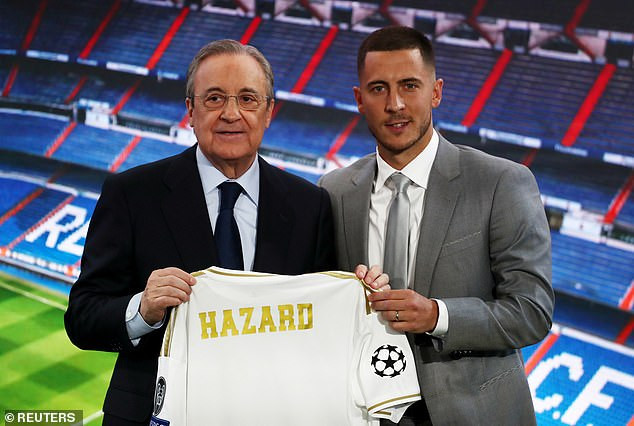 Real Madrid unveil Eden Hazard at Bernabeu after completing his 150m move from Chelsea (Photos)