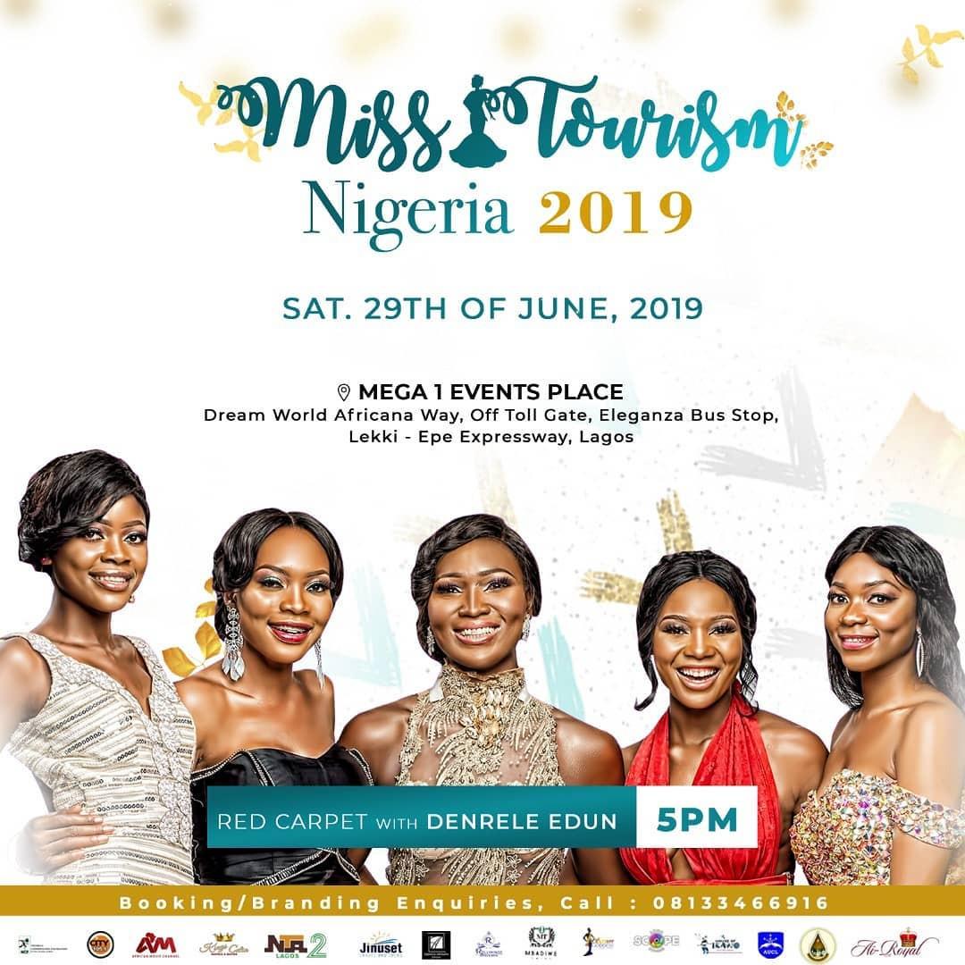 celebrities to grace Miss Tourism Nigeria 2019 grand finale