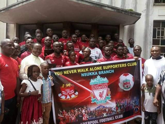 Liverpool fans Nsukka branch go for thanksgiving in Church after historic Champions League win