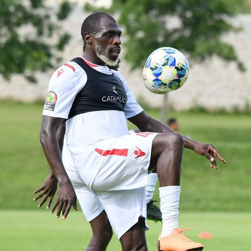Trending photos of 27-year-old Kenyan footballerJoash Onyango training with the National team ahead of 2019 AFCON