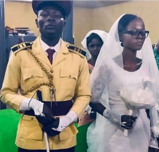Photos: LASTMA officer, Yesufa Olawalewho lost his sight while discharging his official duties gets married in Lagos