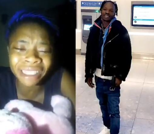 """""""After everything Naira Marley came out of EFCC custody and forgot me"""" - Lady who went viral after crying for the rapper's release cries again (Video)"""