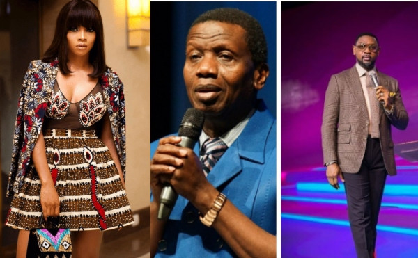 We are humans first before the anointing, Toke Makinwa says as she supports Pastor Adeboye on comment about Pastor Fatoyinbo lindaikejisblog