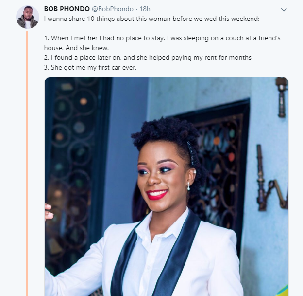 Man lists all his fiance had done for him to appreciate her, but gets mocked by Twitter users lindaikejisblog 1