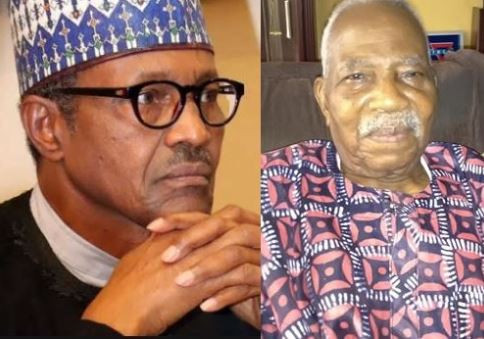 Presdient Buhari condoles with Afenifere leader, Pa Fasoranti on his daughter's death