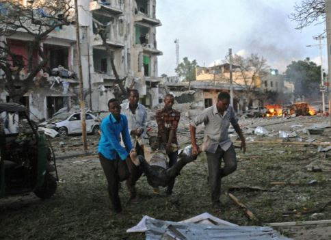 26 people including several foreigners killed and 56 others injured in a suicide bomb and gun attack by Al-Shabaab militants on a popular hotel in Somalia