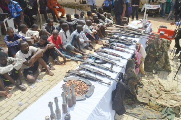Police parade 13 suspects over kidnap of Buhari's in-law and demand of $30m lindaikejisblog