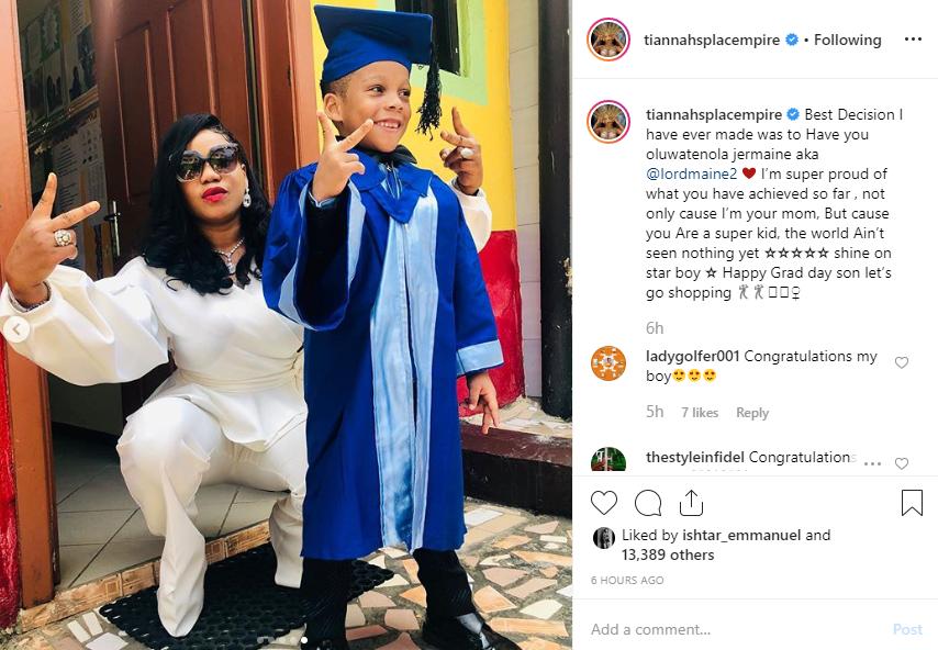 Toyin Lawani's son graduates lindaikejisblog 1