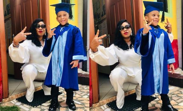 Toyin Lawani's son graduates lindaikejisblog