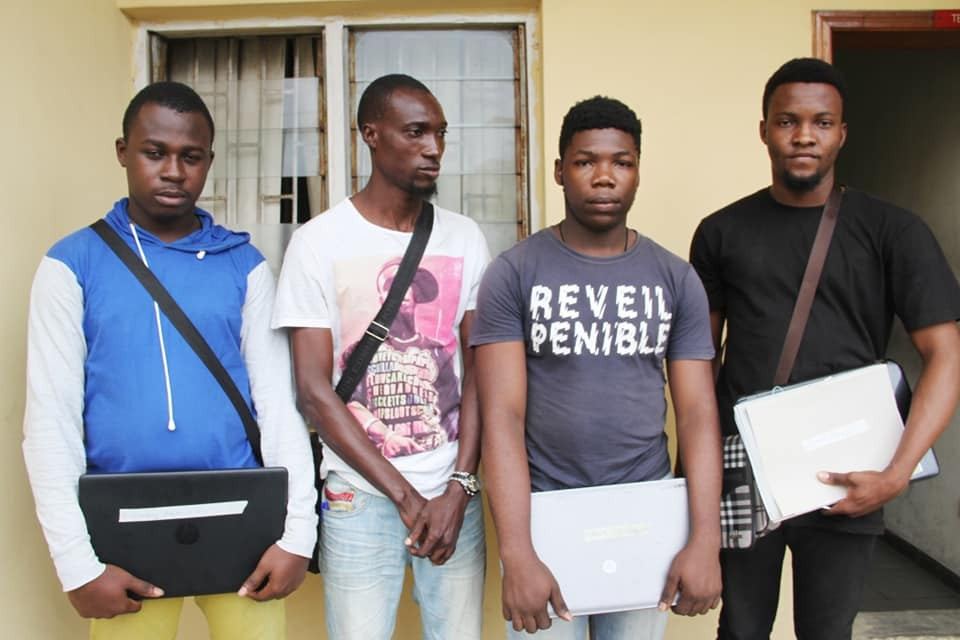 Immigration Officer, 14 passport racketeers arrested by EFCC lindaikejisblog 4