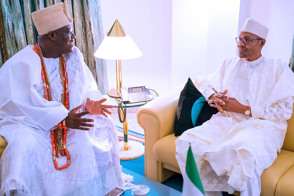 'Southwest wants no war' -Ooni of Ife says after visit to PresidentBuhari (Photos)