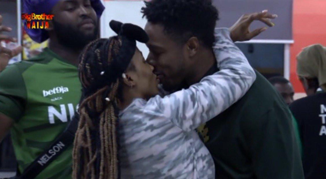 BBNaija: Mercy kisses her man Ike to celebrate his 27th birthday(Video)