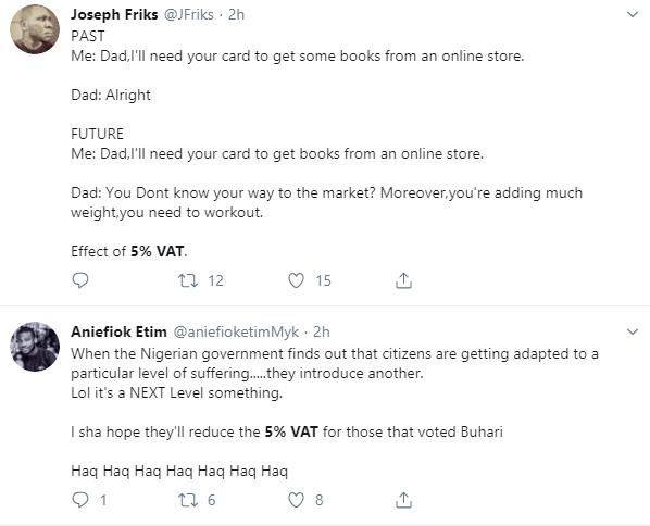 Nigerians kick against 5% proposed VAT on all online purchases via bank cards lindaikejisblog 6