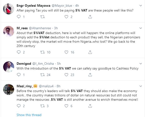 Nigerians kick against 5% proposed VAT on all online purchases via bank cards lindaikejisblog 7