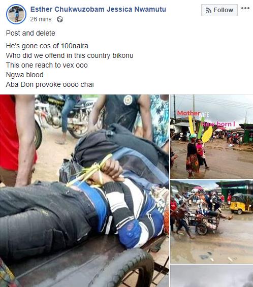 Motorcyclist allegedly shot dead by soldier over N100 bribe in Aba lindaikejisblog 2