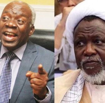 El-Zakzaky: The so-called terms of agreements of the Kaduna State government should be ignored, it'sthe height of provocative contempt - Femi Falana