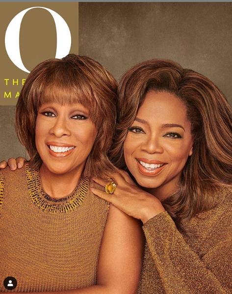 Oprah Winfrey pose for her first magazine cover with her best friend Gayle King, reveals why their friendship has lasted since 1976 lindaikejisblog