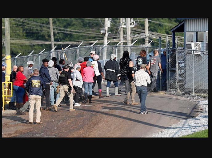 Update: US Immigration release nearly half of the 680 arrested immigrants in Mississipi raids.
