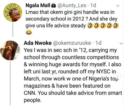 Lady blasts Nigerian Aunty who said shes too young to give life advice lindaikejisblog 1