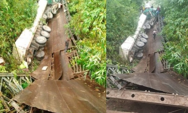 Mbiaso-Ikot Ukpong Bridge in Akwa Ibom State collapses lindaikejisblog