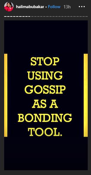 Stop using gossip as a bonding tool - Halima Abubakar throws shades lindaikejisblog 2
