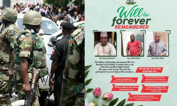 Senior military officer allegedly benefiting from Taraba kidnapper's largesse, allegedly ordered hit on policemen killed by soldiers lindaikejisblog