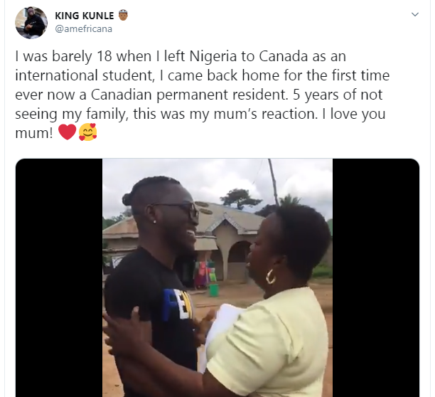 Nigerian mum gets emotional as her son returns home after 5 years in Canada lindaikejisblog