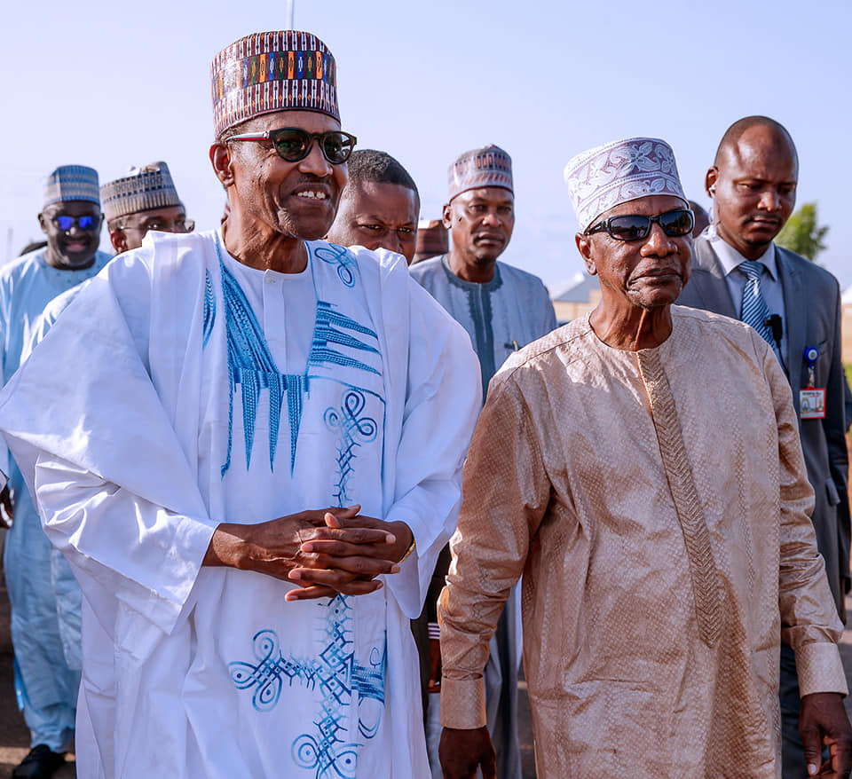Photos:President Alpha Conde of Guinea visits PresidentBuhari in Daura to celebrate Sallah