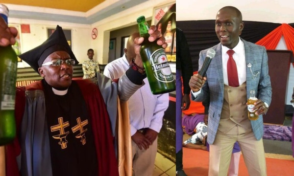 'In God there's liquor, Amstel, Amen'  South African Pastor defends colleague who gave congregants beer during holy communion lindaikejisblog