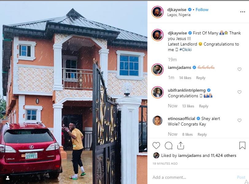 DJ Kaywise becomes a landlord, shows off his new house lindaikejisblog 1