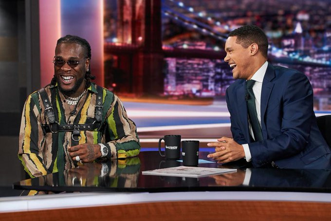 Burna Boy appears on Trevor Noah's The Daily Show, watch video of his performance lindaikejisblog