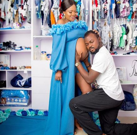 'With God all things are possible' - Toyin Lawani's hubby,Kolawole Ajeyemi shares more 'maternity photos'