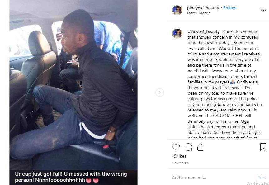 Pastor arrested after snatching Uber driver's car lindaikejisblog 2