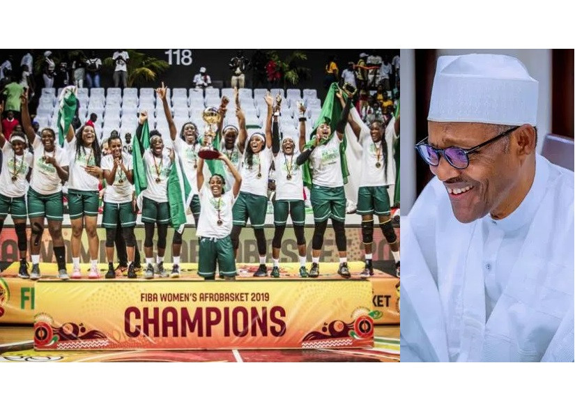 President Buharicongratulates DTigress for defeating Senegal to win 2019 FIBA Afrobasket Championship.