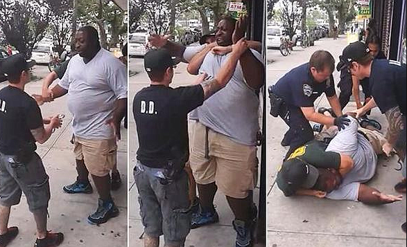 NYPD fires officer who put Eric Garner in chokehold even as he shouted 'I can't breathe'