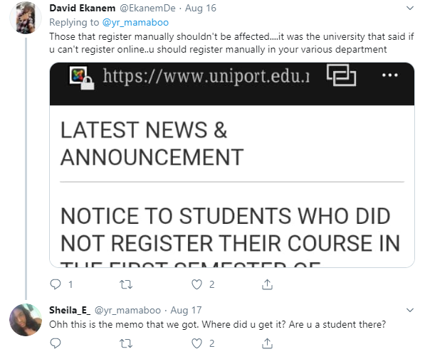 UNIPORT students cry out after being asked to repeat a level over over inability to register courses online lindaikejisblog 3