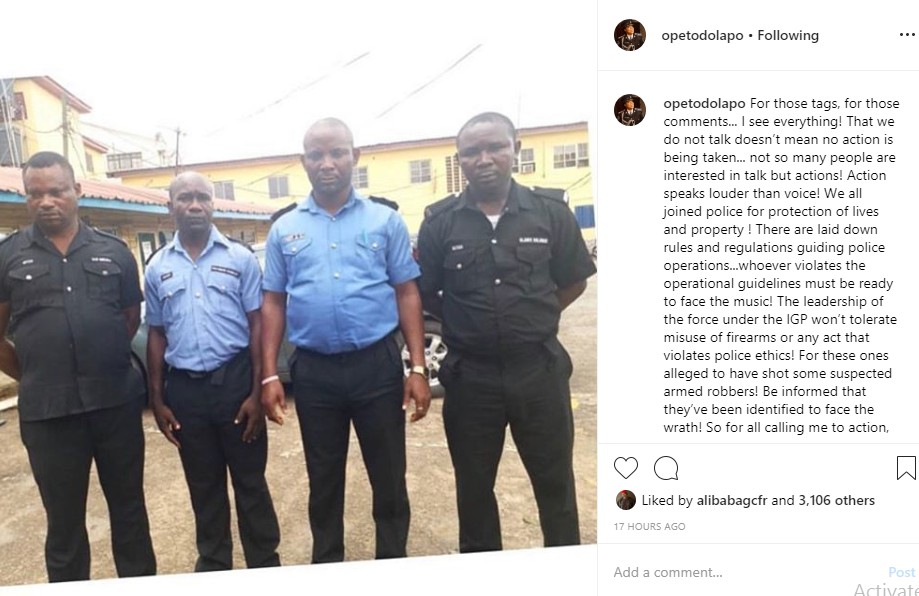 We are paid to prevent and detect crime, not to kill - Dolapo Badmus speaks on arrest of four policemen who killed unarmed suspects inside a bus lindaikejisblog 1