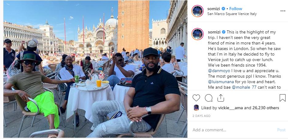 Somizi and Mohale's white wedding date revealed lindaikejisblog 1