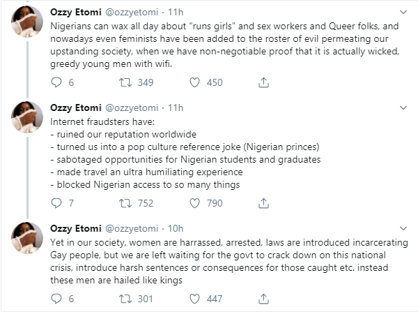 Young Nigerian men are single-handedly ruining the countrys reputation and lives - Feminist, Ozzy Etomi lindaikejisblog 2