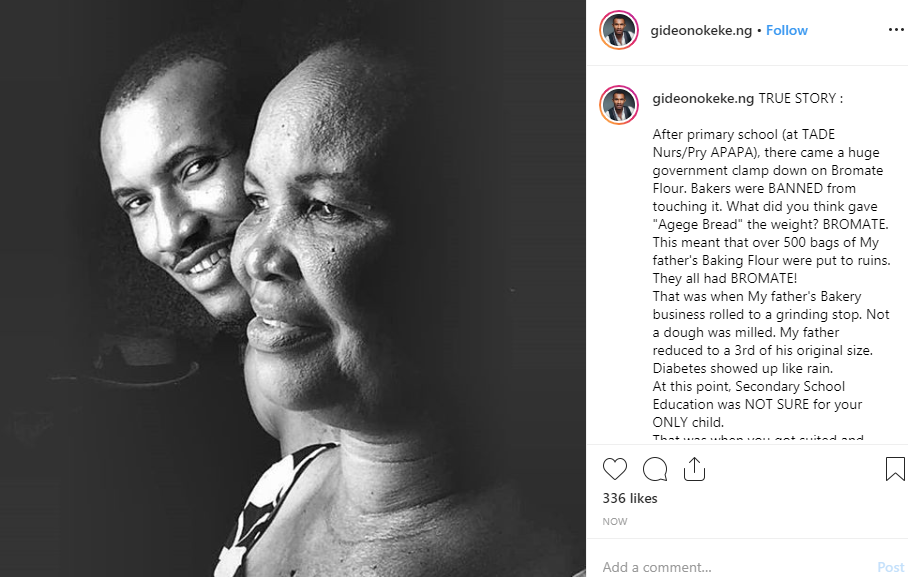 Gideon Okeke celebrates his mother on her birthday, shares 'true' story of how she supported their family after his father's business went down lindaikejisblog 1