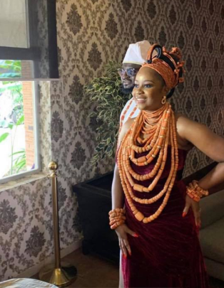 First photos from wedding ceremony of Tee-Y Mix and Ivie Ogbonmwan lindaikejisblog 3