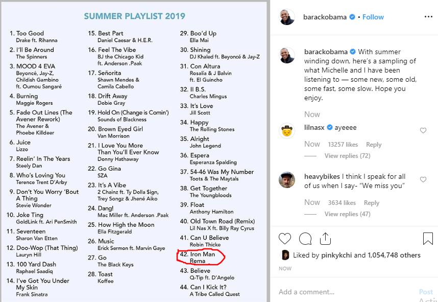 Rema makes Obama's 2019 summer playlist lindaikejisblog 1