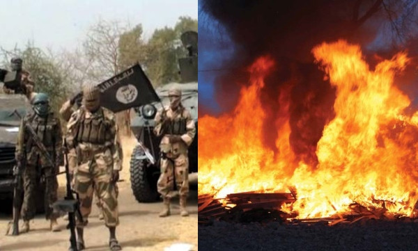 Boko Haram sets 73 houses ablaze in Borno lindaikejisblog