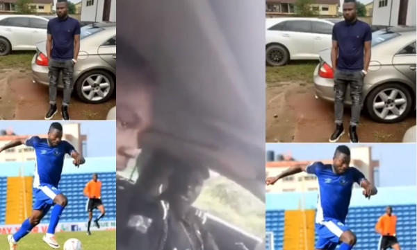 Anyone youth who owns a Benz is a yahoo boy - Policeman tells Enyimba FC player, Stephen Chukwude lindaikejisblog