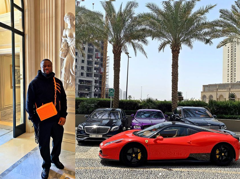 Hushpuppi shows off his luxury whips in new photo