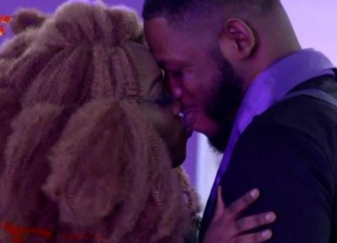 #BBNaija: 'I pray for more' - Frodd tells Biggie after getting a 'kiss' from Esther (Video)
