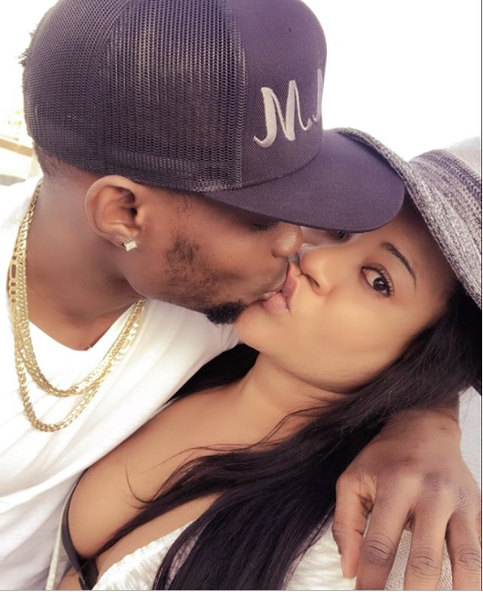 Nkechi Blessing Sunday celebrates her boyfriend's birthday with kissing photo, sends warning to ladies to stay off her man