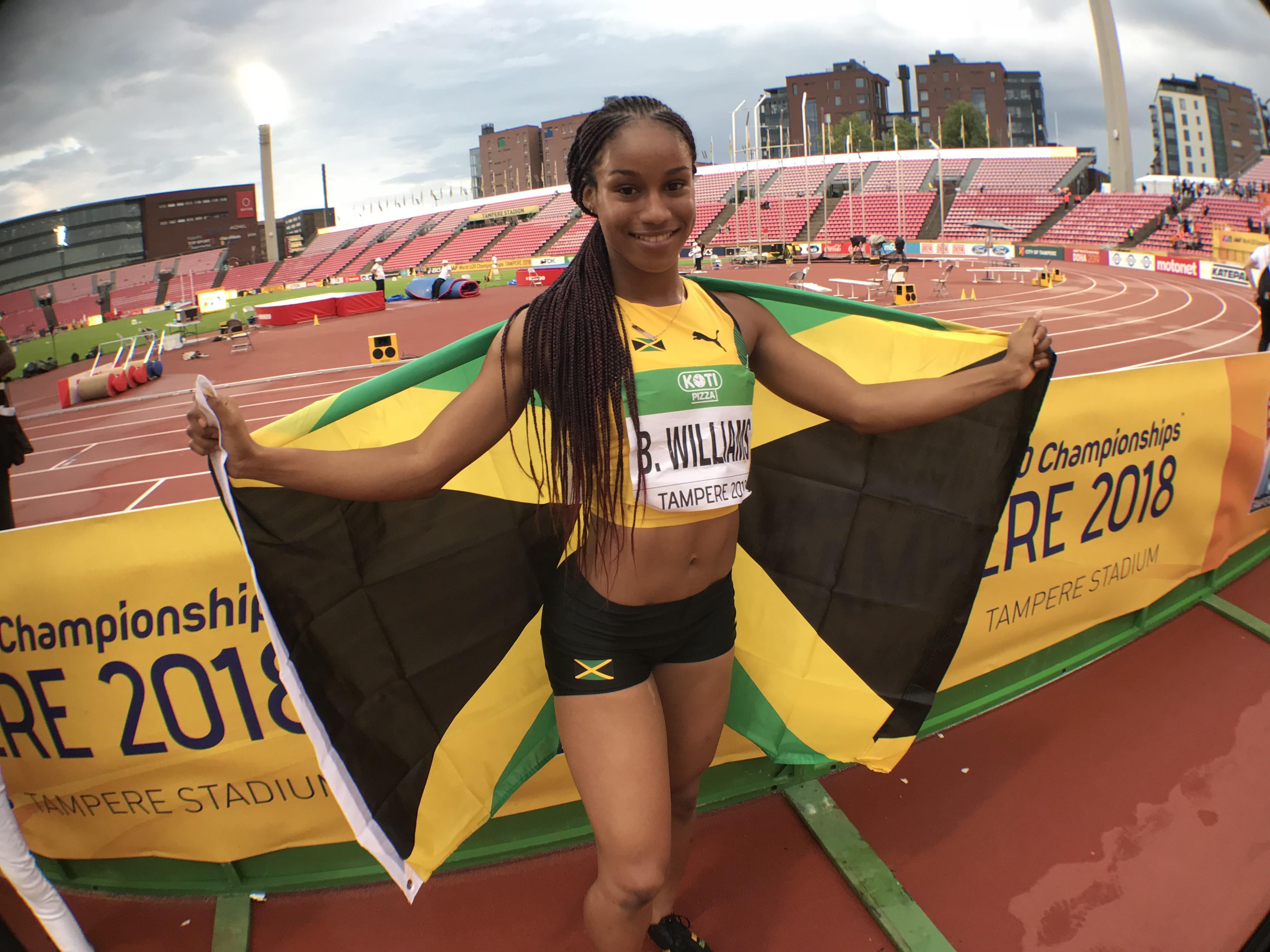 17-year-old Jamaican sprinter Briana Williams fails drugs testas diuretic Hydrochlorothiazide is found in her system