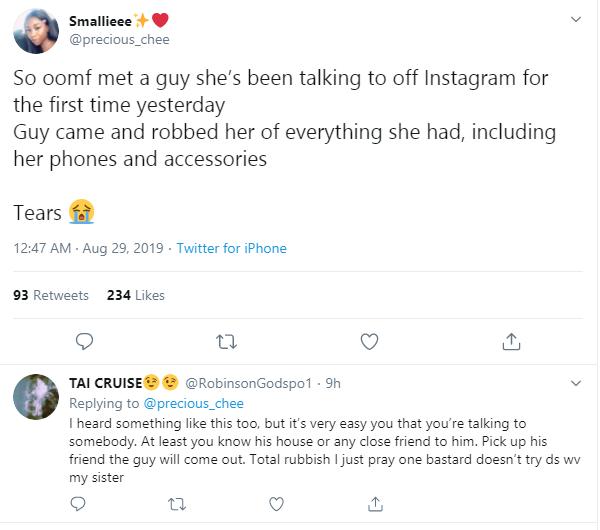 Nigerian lady robbed by man she met on Instagram lindaikejisblog 1