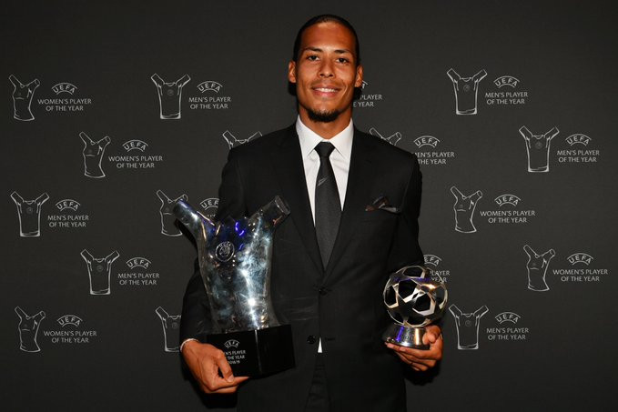 UEFA Men's Player of the Year: Liverpool's Virgilvan Dijkbeats Lionel Messi and Cristiano Ronaldo to clinch the award